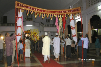 Palki for Ramnath Dev at the Ramnathi Devasthan, Goa