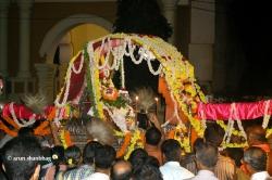 Ramnath Dev sitting in the Palki