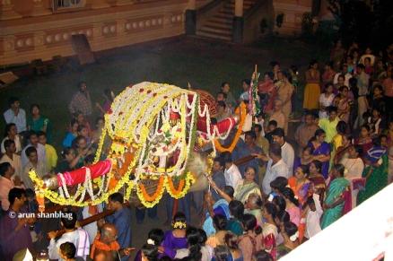 Palki of Ramnath Dev going around the temple