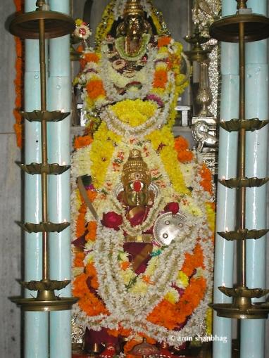 pics of Devi Kamakshi at the Ramnath Devasthan, Goa by Arun Shanbhag