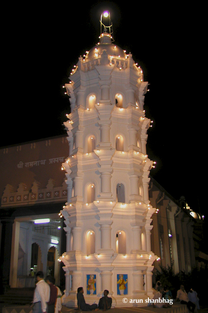 Deepa Sthamba (light tower) at the Ramnath Devasthan, Goa