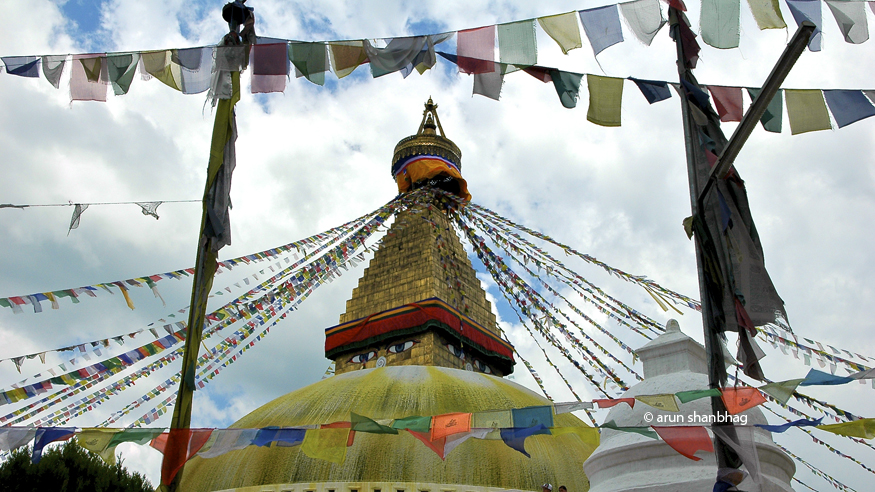 photos of the magnificent Baudhanath Stupa Kathmandu Nepal by Arun Shanbhag