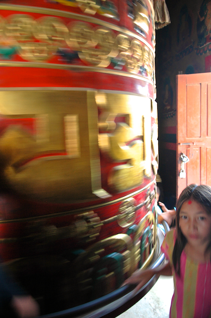 photos of giant prayer wheel at Baudhanath Stupa Kathmandu Nepal by Arun Shanbhag