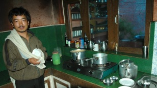 picture of making chai at the guest house by Arun Shanbhag
