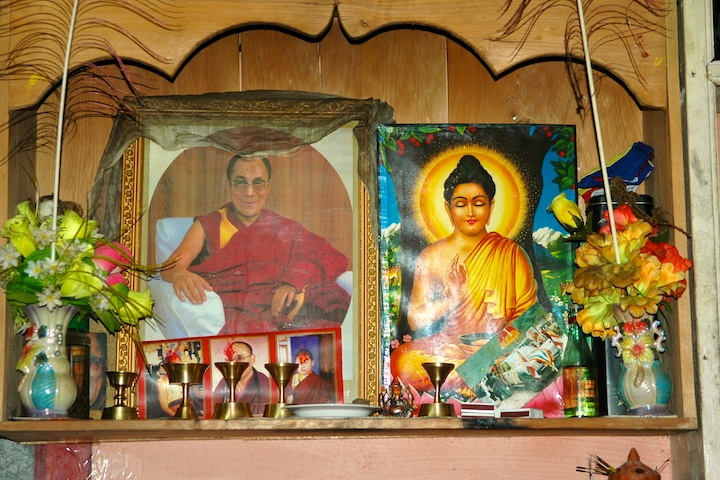 picture of the Buddhist shrine in the restaurant by Arun Shanbhag