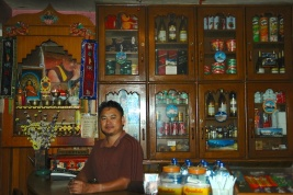 picture of the Guest house owner in Kodari nepal by Arun Shanbhag