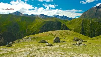 photos of mountains around Nyalama Tibet by Arun Shanbhag