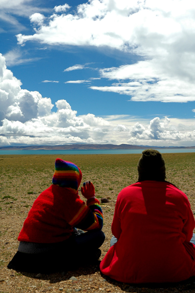 Seeking @ Lake Manasarovar by Arun Shanbhag