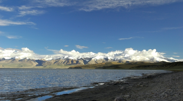 Gurla Mandatha on the South bank of Lake Manasarovar by Arun Shanbhag