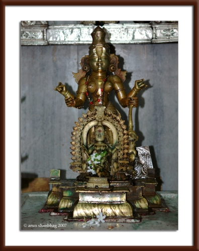 Devi Shanteri at the Ramnathi Devasthan by Arun Shanbhag