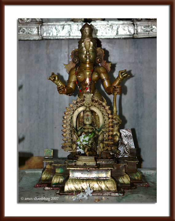 Devi Kamakshi at the Ramnathi Devasthan by Arun Shanbhag