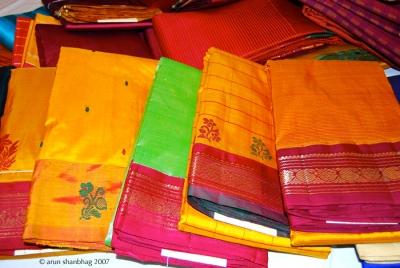 Photos of Kancheevaram sarees from Nalli Sarees Chennai by Arun Shanbhag