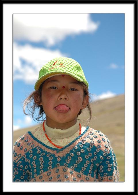 Tibetan Girl in Saga by Arun Shanbhag
