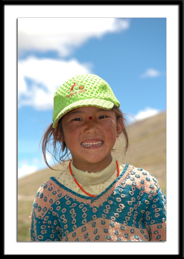 Tibetan Girl in Saga by Arun Shanbhag