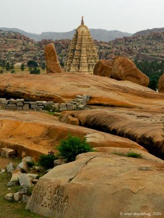 picture of Gopuram of Virupaksha temple in Hampi by Arun Shanbhag