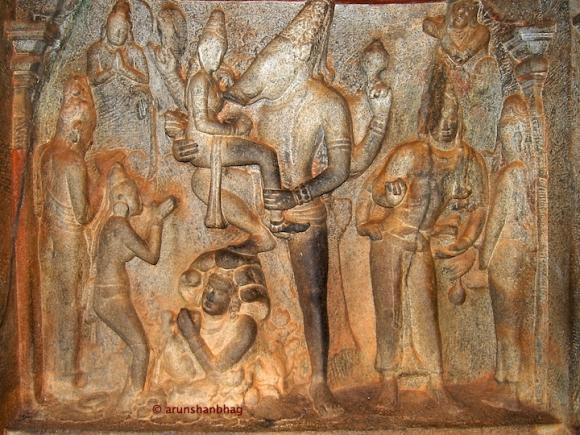 Varaha rescuing Prithvi (earth), Varaha Cave Mamallapuram Arun Shanbhag
