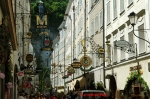 Pictures of beautiful streets in the touristy stretch of Salzburg Austria by Arun Shanbhag