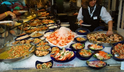 pictures of seafood in Salzburg Austria by Arun Shanbhag