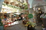 Picture of Courtyard Cafe in Salzburg Austria by Arun Shanbhag