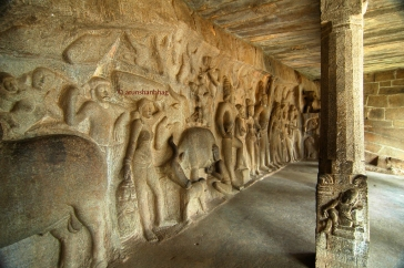 photos of Pallava Krishna Mandap in Mamallapuram by Arun Shanbhag