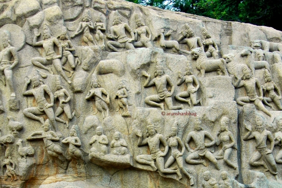 Photos of the Great penance descent of the Ganga Mamallapuram by Arun Shanbhag