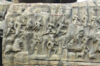 Photos of the Great penance descent of the Ganga Mamallapuram by Arun Shanbhag