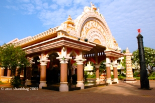 photos of Maha Mandapam at Mahalakshmi Temple in Goa by Arun Shanbhag