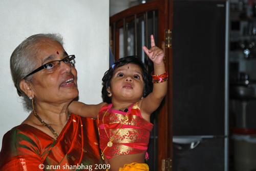 pics of With Bapoamma at Meera's first birthday by Arun Shanbhag