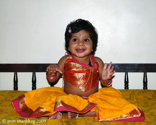 pics of Meera's first birthday by Arun Shanbhag