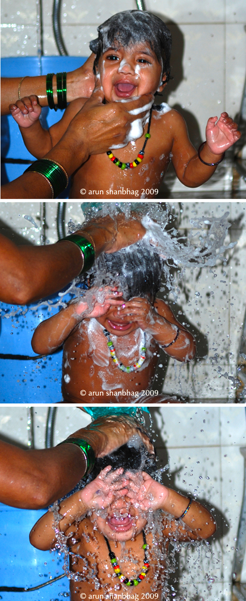 pics of Meera's bath by Arun Shanbhag