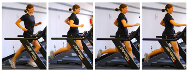 pics of Julie Schlenkerman doing intervals on a treadmill by Arun Shanbhag