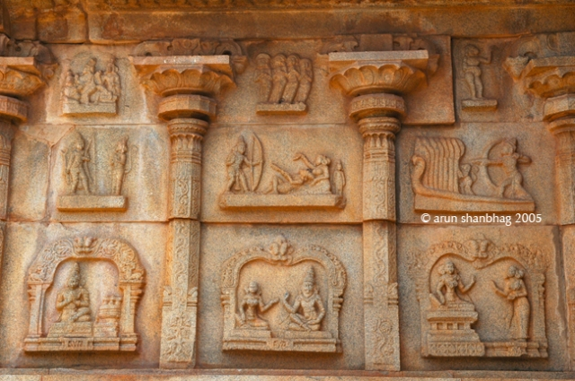 Frieze at the Hazara Rām Devasthān, Hampi by Arun Shanbhag