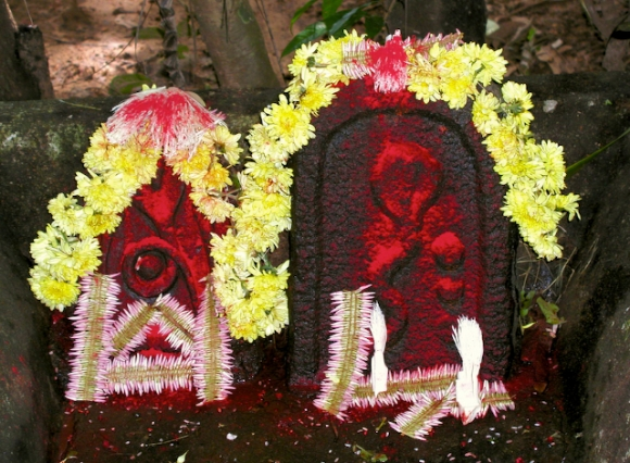 pic of Puja for Naga Devata with Jaaii Juhi flowers in Kumta by Arun Shanbhag