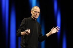 Steve Jobs in San Francisco in June (New York Times)