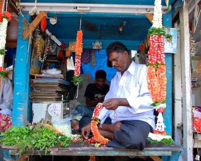 Flower Seller at the Matunga Flower Market by Arun Shanbhag