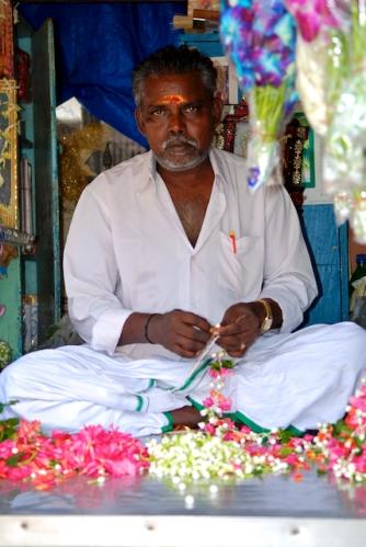 Flower Seller at the Matunga Market, Mumbai by Arun Shanbhag