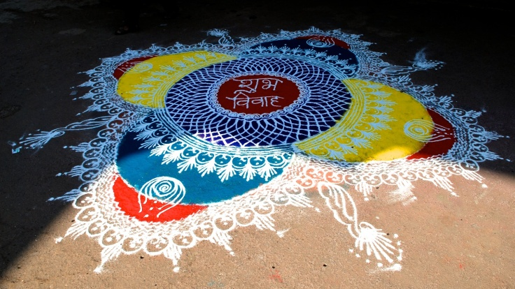 Rangoli - Shubh Vivah (Congratulations for an auspicious wedding) by Arun Shanbhag