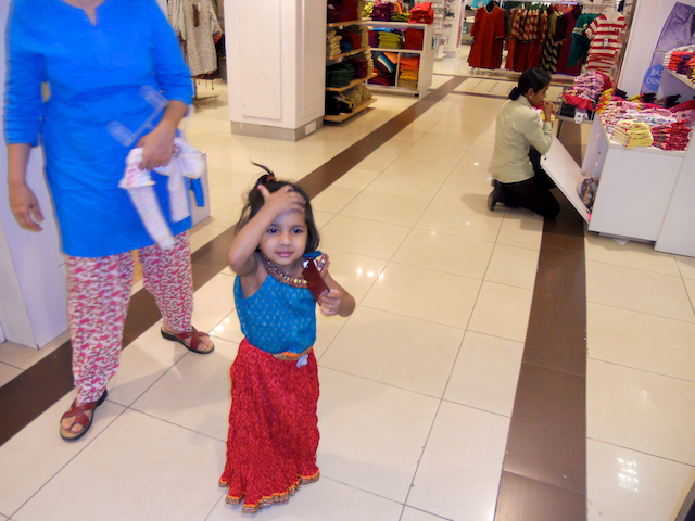 Meera trying out an outfit at Pantaloon in Phoenix Mall by Arun Shanbhag