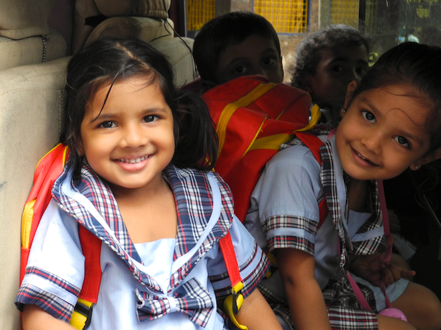 New Year Greeting 2012 Meera goes to school by Arun Shanbhag