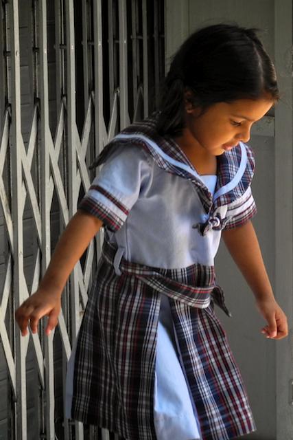 Meera goes to school by Arun Shanbhag