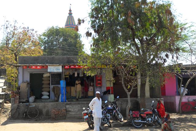 Shops at a tiny Marathi Village by Arun Shanbhag