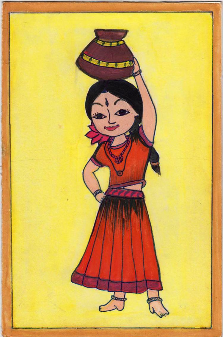 Makar Sankranti 2012 Greetings drawn by Chitra Ulhas Nayak pics by Arun Shanbhag