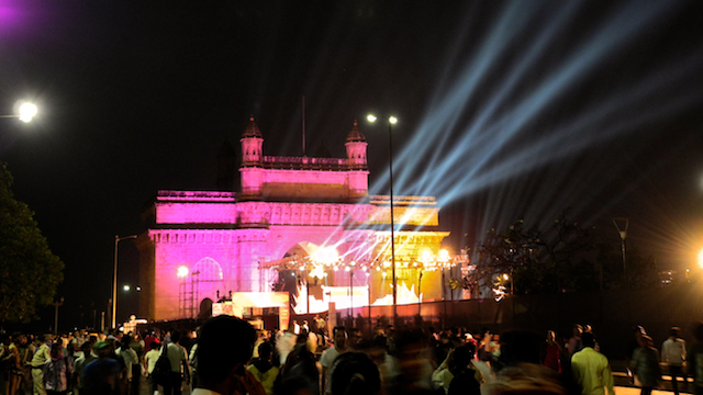 Pics of Lights at the Gateway of India, Mumbai by Arun Shanbhag