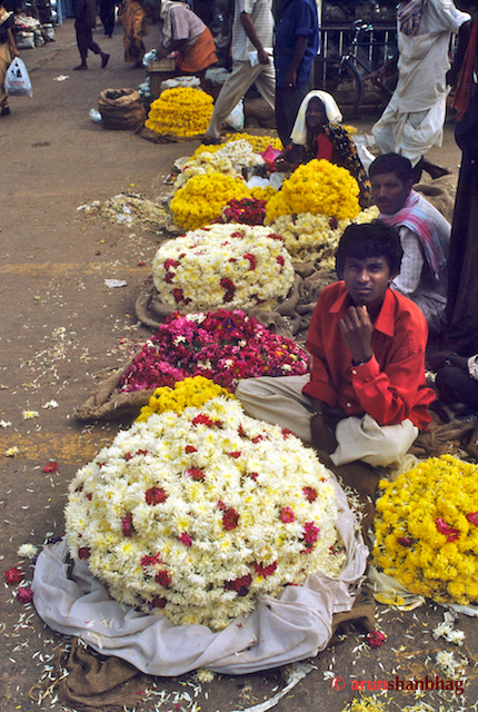 Flower Sellers at the Udupi Shri Krishna Mutt