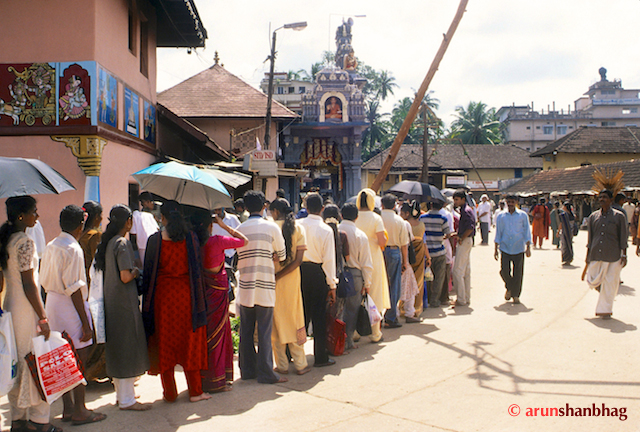 Devotees at the Udupi Shri Krishna Mutt