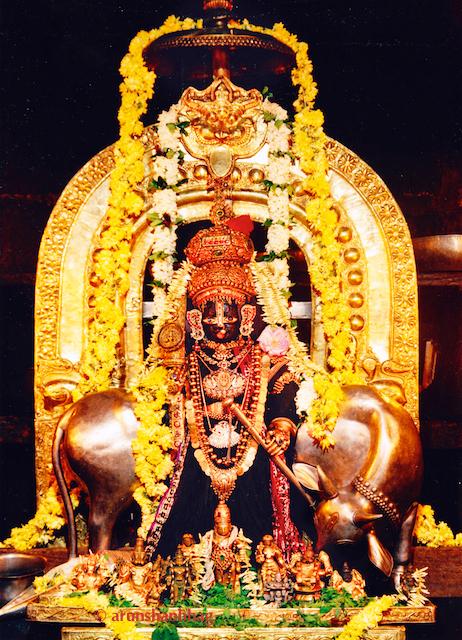Murti of Udupi Shri Krishna with Alankar during Paryaya