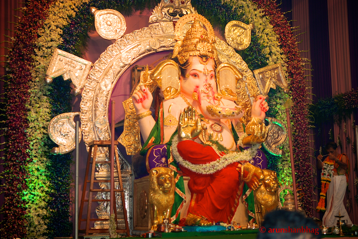 Ganapati at the GSB Seva Mandal