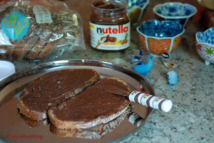 Pics of Nutella on Iggy's Bread by Arun Shanbhag