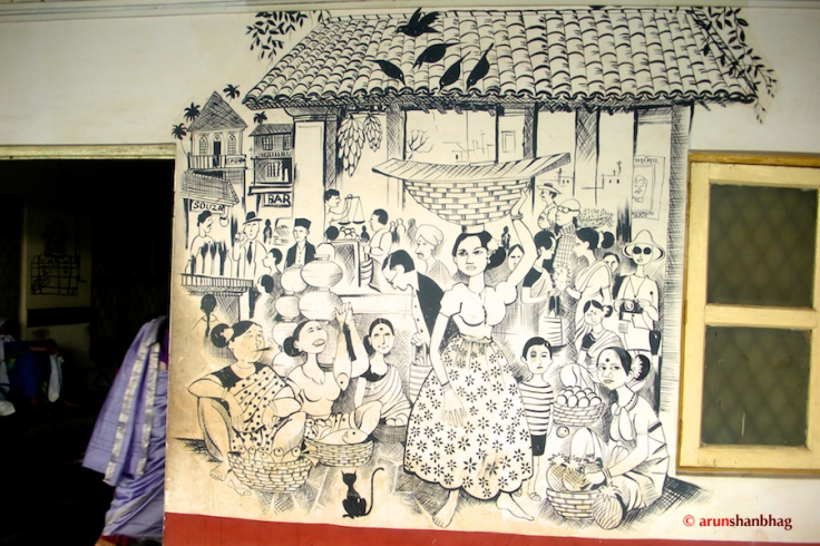 pictures of Murals by Mario at Madgaon Station, Goa by Arun Shanbhag