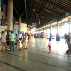 pictures of Passengers at Madgaon Train Station, Goa by Arun Shanbhag